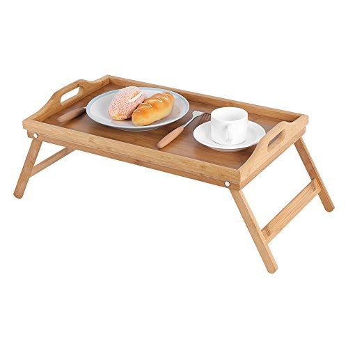Essen Mahlzeit Bett Tablett Servieren Bett Tisch Schreibtisch, tragbare klappbare Bambus Bett Frühstück Tablett Laptop Sand Schreibtisch, dicke robuste Bambus Essen Serviertablett auf dem Bett Sofa