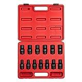 Sunex 2665, 1/2 Inch Drive Universal Impact Socket Set, 13-Piece, Metric, 12mm - 24mm, Cr-Mo Alloy Steel, Radius Corner Design, Heavy Duty Storage Case