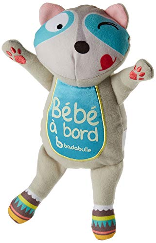 Badabulle B045905 - Bebé a bordo fluorescente, mapache