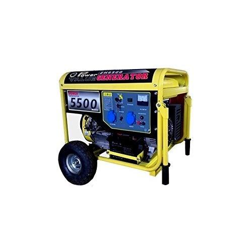 GrecoShop Gruppo elettrogeno/Generatore di Corrente 5500W - 220V avviamento Elettrico con Ruote (cod.:4271)
