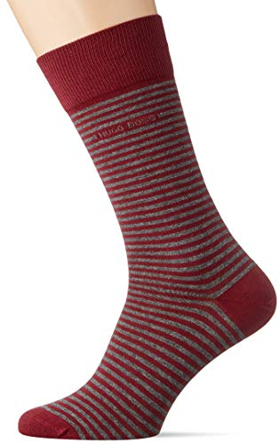 BOSS Marc RS Stripe CC Calcetines de Vestir, Dark Red609, 39-42 para Hombre