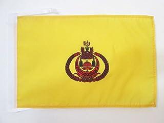 BRUNEI 扁平的皇家标准 45.72 厘米 x 30.48 厘米电线 - BRUNEIAN KINGDOM 小号扁平 30 x 45厘米 - 横幅 18x12 英寸 - AZ 扁平
