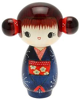 Usaburo Japanese Kokeshi Doll Hoshi s Blue Kimono