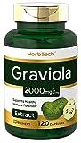 Horbaach Graviola Extract 2000 mg 120 Capsules | Non-GMO, Gluten Free | Soursop (Annona Muricata)