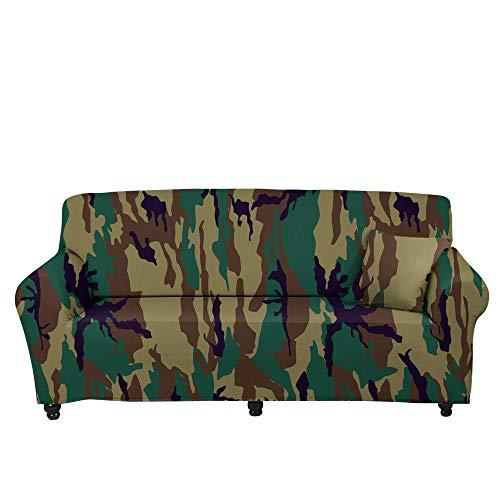 HXTSWGS Funda de sofá elástica Jacquard,Funda de sofá de Camuflaje Floral 3D, Funda Protectora elástica con Todo Incluido de Tela para el hogar, Funda de sofá de Sala de Estar-Color4_190-230cm