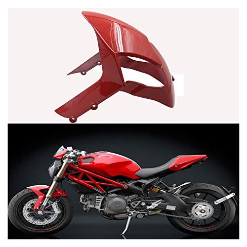 Guardabarros de Motocicleta Motorcycle Fender Fit For Ducati Monster 696 795 796 1200 S4R 1100 1100S EVO Motorcycle Front Week Fender (Color : Matte Black)