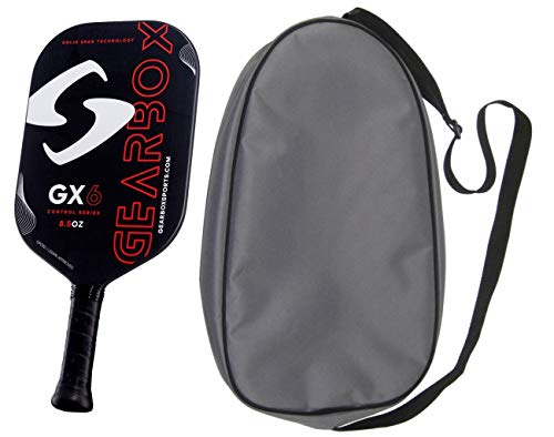 Gearbox GX6 Pickleball Paddle with 2 Paddle Bag - Choice of Models (Red, Control, 8.5oz)