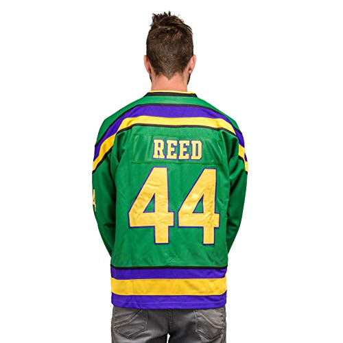 Costume Agent Mighty Ducks Hockey Green Jersey Reed #44 (Adult X-Large)