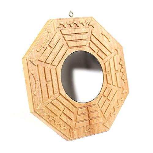 Navigatee Bagua Espejo Tradicional Chino Feng Shui Bagua para protección contra la energía dañina Activa (Espejo Convexo/Espejo cóncavo), Convex Mirror