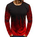 SXZG T-Shirt a Manches Longues et a Manches Longues de Grande Taille pour Hommes,...