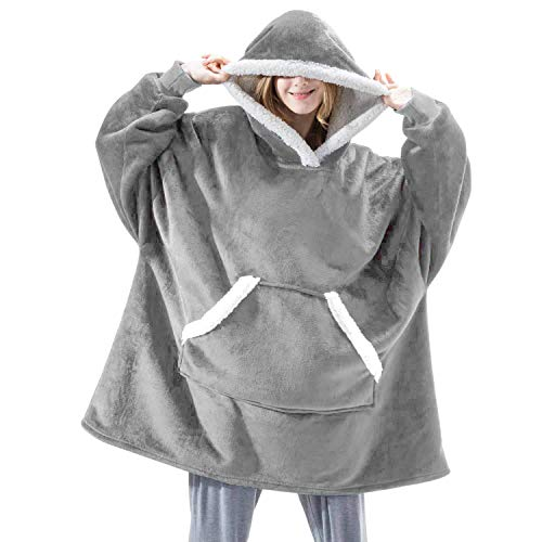 semen Damen Hoodie Oversize Damen Herren Übergroße Decke Sweatshirt Langarm Kapuzenpullover Pulli mit Taschen