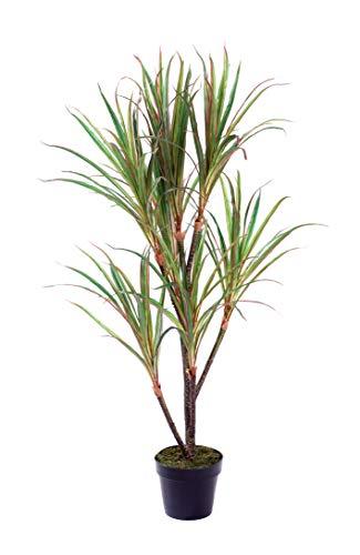 Best Artificial tropischer Dracaena-Drachenbaum, 120 cm, Kunstpflanze für Büro/außen/innen/Wintergarten
