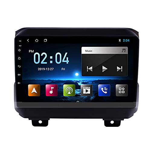 MGEM Android Navigation Stereo Support Mirrorlink/Steering Wheel Control/Rear View Camera with Bluetooth/GPS/Wifi/FM Radio, for Jeep Wrangler 2018-2019 Auto Radio Head Unit,Quad core,WIFI 1+16