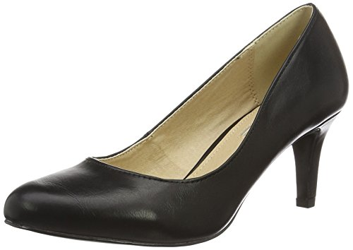 Buffalo Shoes Damen C404A-1 P1735A PU Pumps, Schwarz (Black 01), 40 EU