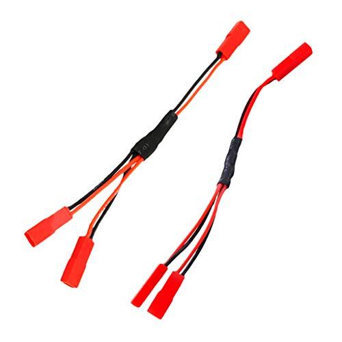 Sharplace 2X JST Enchufe Hembra Adaptador de Carga de Batería Y Pieza de Repuesto para RC Car ESC