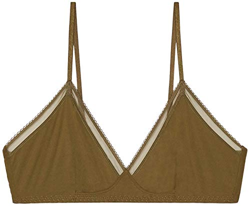Savage X Fenty Women's Reg Unlined Microfiber Bralette, Military Green, M