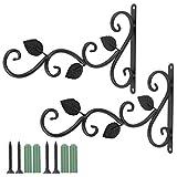 Coolty Lot de 2 supports de suspension pour panier suspendu, crochet de suspension mural, crochet de jardin, crochets décoratifs pour plantes pour mangeoire à oiseaux, carillon éolien, lanterne