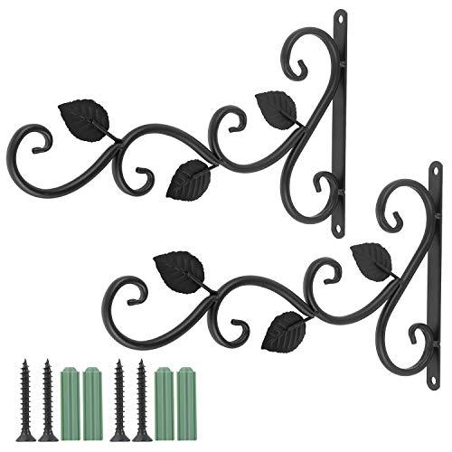 Coolty 2pcs soportes para cesta colgante, gancho para colgar en la pared, gancho de jardín retro,...