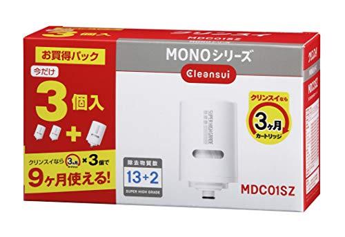 クリンスイ 浄水器 カートリッジ 交換用 3個入 増量パック MONOシリーズ MDC01SZ