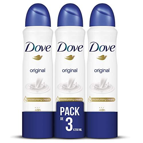 Dove Original Desodorante Aerosol 250ml - [Pack de 3]