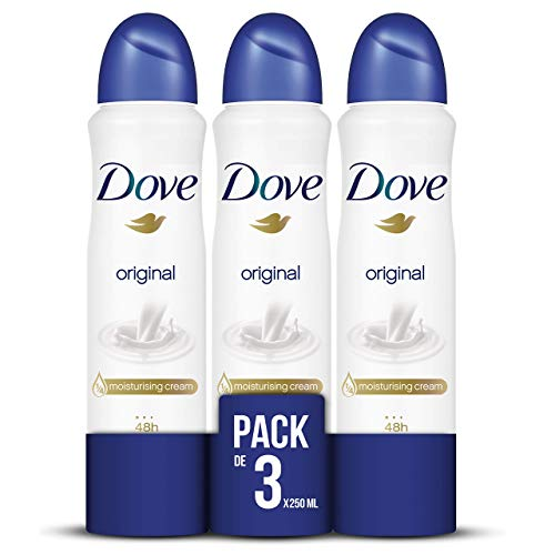 Dove Original Desodorante Aerosol 250ml - [Pack de 3]