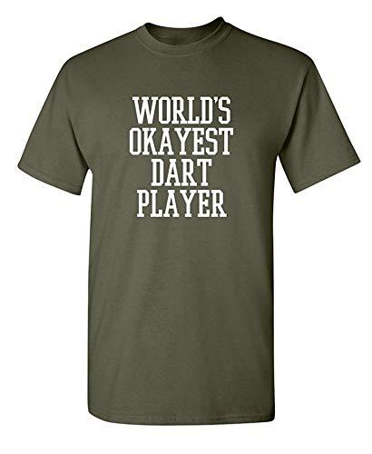 Der Okayest Pfeil-Spieler der Welt erwachsenes humorvolles grafisches Neuheits-sarkastisches lustiges T-Shirt, XX-Large, Militär