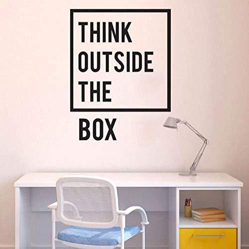 Muursticker,Denk Out Of The Box Vinyl Home Decor PVC Muurstickers Kantoor Kamer Decoratieve Muurstickers 30 X 30cm