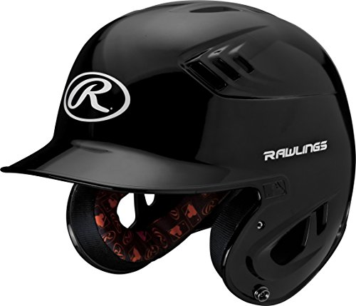Rawlings R16 Series Metallic Batting Helmet, Black, Senior