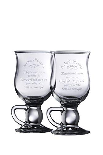 Galway Crystal irischen Segen Latte Paar, transparent