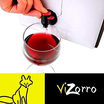 Beutel-in-Box-I-Rotwein-Empfohlener-Rotwein-Box-mit-Zapfhahn-I-Ausgewaehlte-Trauben-Wein-aus-Castilla-y-Leon-mit-suessem-angenehmem-und-lebendigem-Geschmack-I-Red-Tempranillo-Vizorro