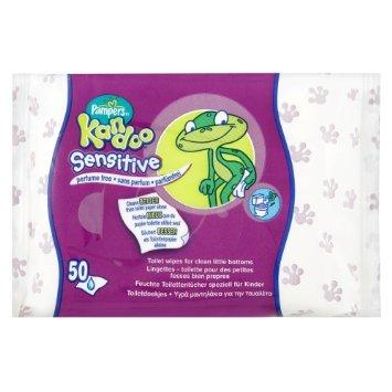 3x Kandoo feuchte Toilettentcher Sensitiv / für empfindliche Haut / 50 Tücher je Packung