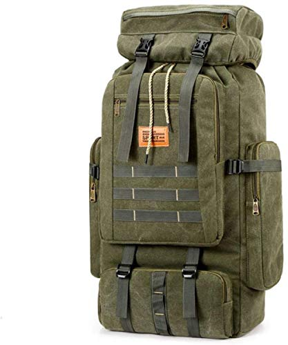 Multifunction Military Tactical Backpack 80L Large Army Assault Pack Molle Bug Out Bag Backpacks Rucksack Daypack for Camping Hiking and Trekking Green Perfect