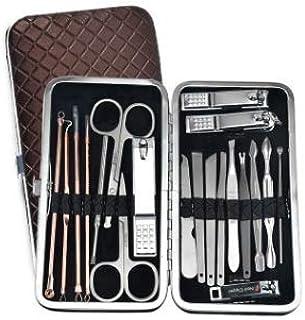 Manicura Set - 20 en 1 manicure kit acero inoxidable manicura y pedicura para mujeres y hombres,Kit compacto y elegante, f...