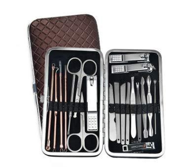 Manicura Set - 20 en 1 manicure kit acero inoxidable manicura y pedicura para mujeres y hombres,Kit compacto y elegante, fácil de llevar a cualquier lugar, herramientas prácticas de cuidado de uñas!