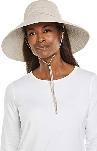 Coolibar UPF 50+ Women's CYD Travel Beach Hat - Sun Protective (One Size- Sand)