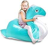 SMOOTHY Kindersitzsack Nessie - Tierform Sitzsack für Kinder -...
