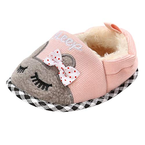 Luckycat Zapatos de Bebe Zapatillas Antideslizantes Niño Pequeños Caminantes Mullidos Calientes Primeros Pasos Zapatos Recien Nacido Ropa de Bebe Caminantes Mullidos 0-18 Meses