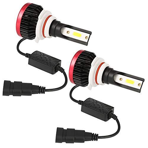 Kit de phares à LED P6 H1 / H3, 12 ampoules halogènes de rechange en aluminium de rechange 24V 6000ML, rouge et blanc, 2 pièces,H3
