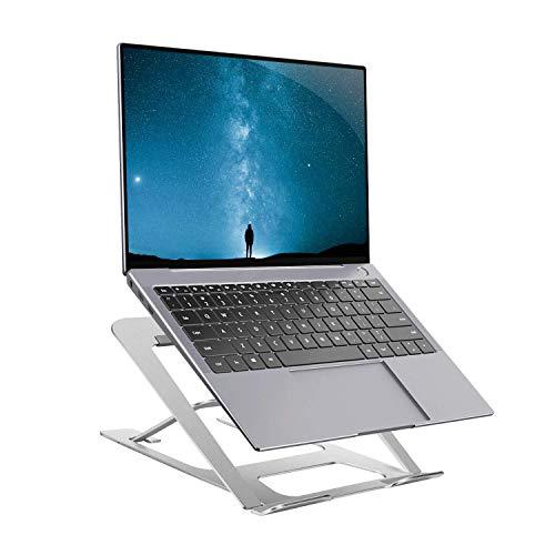 YLJJ Soporte para computadora portátil, 6 Niveles de Altura Ajustable portátil Escritorio, Elevador Plegable Aluminio Adecuado Cualquier Entre 10 y 15.6 Pulgadas