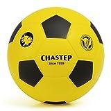 Vigoureux Chastep Foam Balle en Mousse Football Soccer Balle Rebondissante Anti Stress Enfant 20cm (Jaune et Noir)