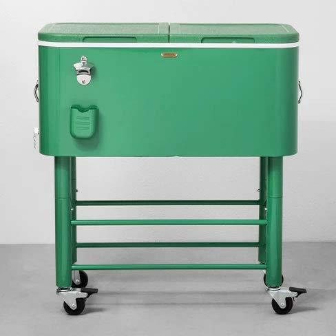 Hearth & Hand Centennial Rolling Cooler 77qt - Green