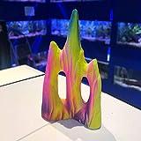Mezzaluna Gifts Colorido adorno de cerámica con diseño de sirena, diseño de flores (GLACIER 11 cm de alto x 6,5 cm)