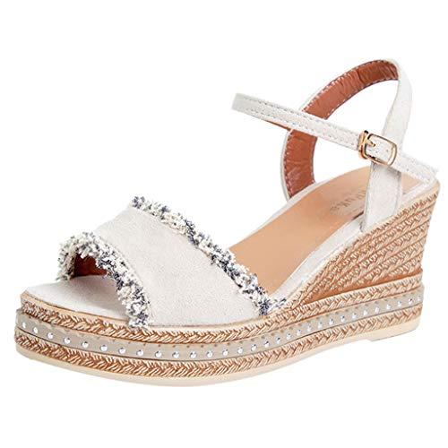 Fannyfuny_Zapatos de Verano Sandalias Mujer Zapatos de Tacón Sandalias de Verano Sandalias de Tacón Zapatos de Cuña Sandalias Mujer Verano Cuña Sandalias Confort Zapatillas (5cm-8cm)