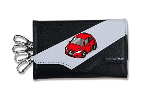 MKJP キーケース ベース:ブラック 大 車カラー:レッド マツダ アクセラスポーツ BM