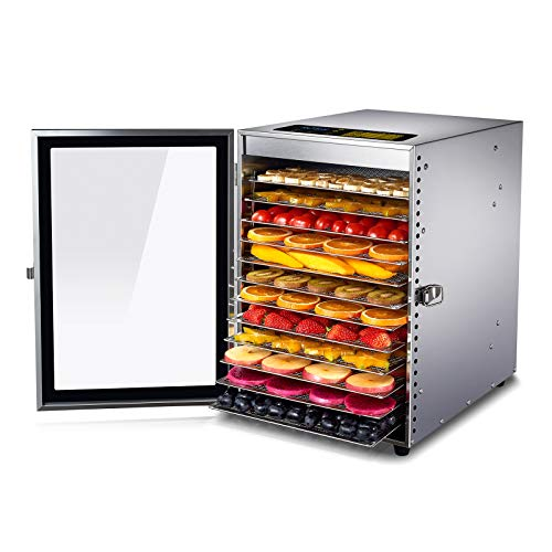 Colzer Food Dehydrator 12 Stainless Steel...