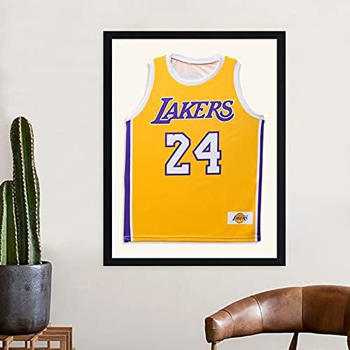 Mr.LQ Basketball-Trikot-Rahmengestell, Fußball-Trikot-Rahmen, Erwachsene Sport-Shirt-Display-Rahmen Montiert Sport-Shirt-Rahmen