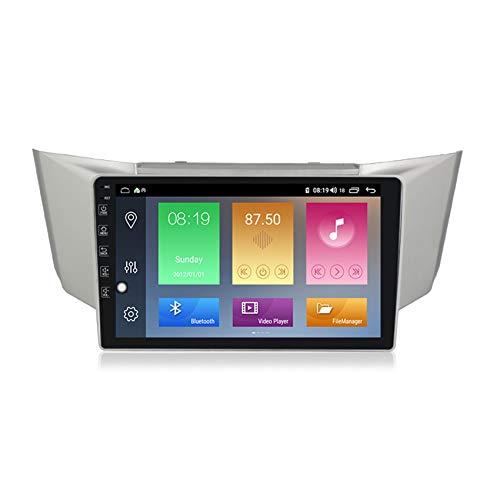 ADMLZQQ Android 10 GPS Navigation Car Stereo Radio,para Lexus RX-300 2003-2009 HD Pantalla Táctil FM Enlace Espejo Controles del Volante Carplay Integrado+DSP(M300/M500/M600),M500 4+64g