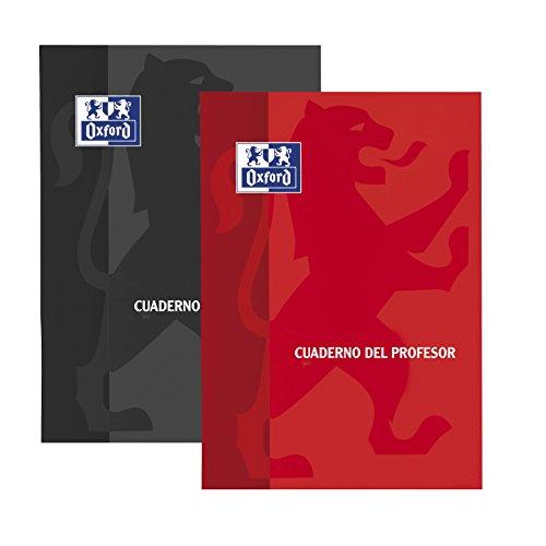 Oxford Teacher - Pack de 10 cuadernos del profesor con tapa de plástico y matriz neutra