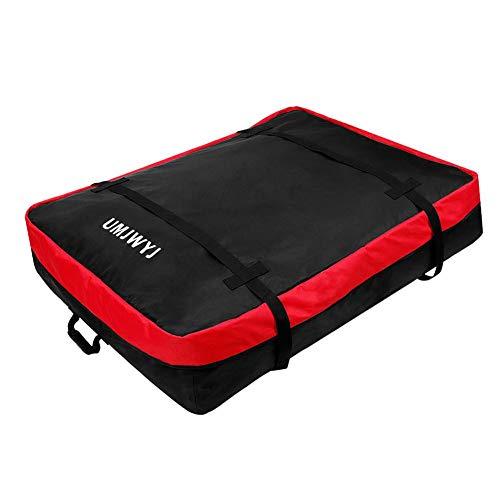 Lancei - Bolsa de techo para coche, portaequipajes impermeable a prueba de polvo, con 2 correas reforzadas para vehículos todoterreno