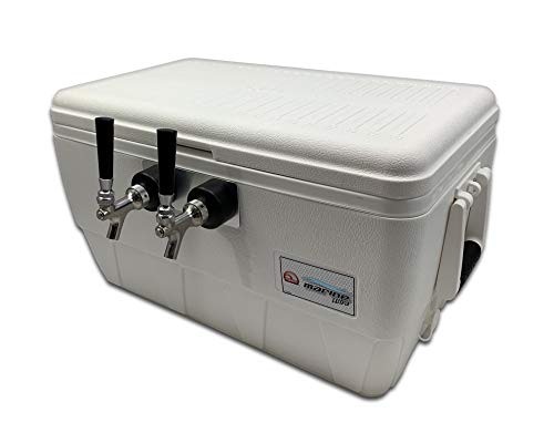 COLDBREAK Jockey Box, 2 Taps, Rear Inputs, 48 Quart Marine Cooler, 50'...